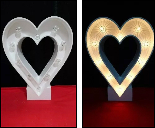 3ft Heart Light