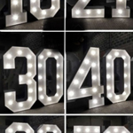 Age Numbers Lights